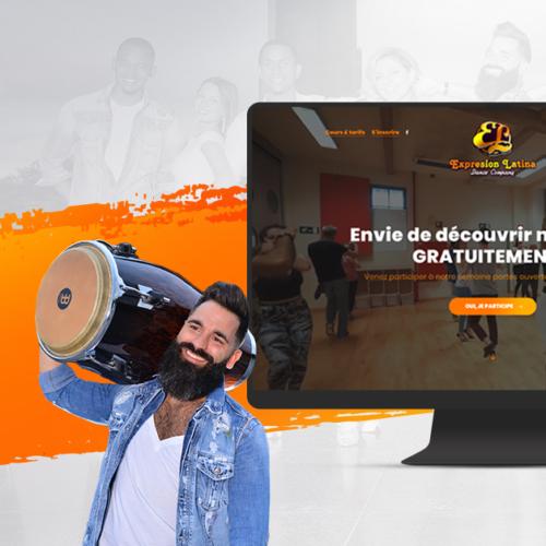 Création du site internet de la communication marketing de l'école de danse réputé à Bruxelles